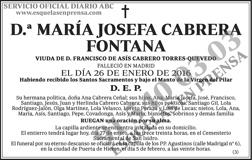 María Josefa Cabrera Fontana